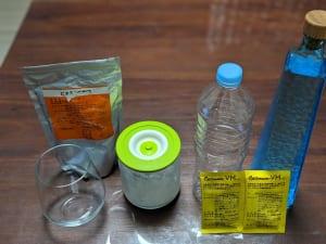 熱中症対策ジュースをつくrための用意するもの。